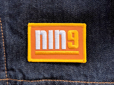 NIN9 number simple ben stafford focus lab anniversary retro clever denim patch 9 nine