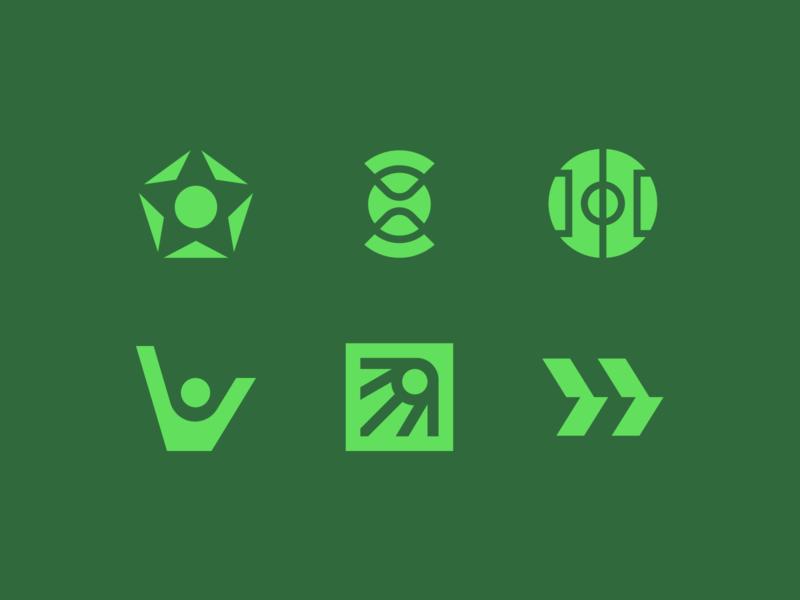Benchwarmers concepts focus lab geometric sports mark logo
