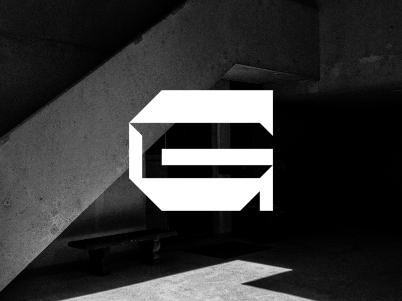 B R U T A L reversed stress sharp geometric brand thick angled capital letterform g brutalism brutalist brutal
