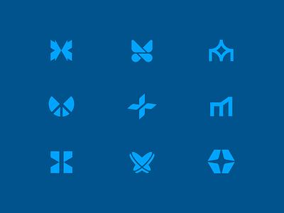 Metamorphosis metamorphosis butterfly abstract modern geometric logo logomark mark simple focus lab concept concepts