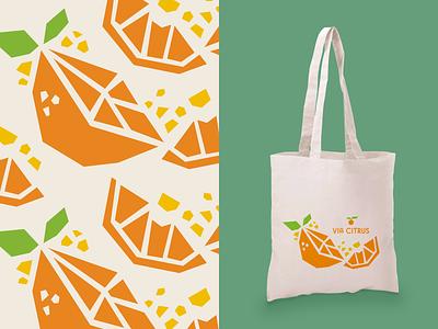 Totes Magotes zest illustration via citrus paper cut fresh totebag tote citrus orange