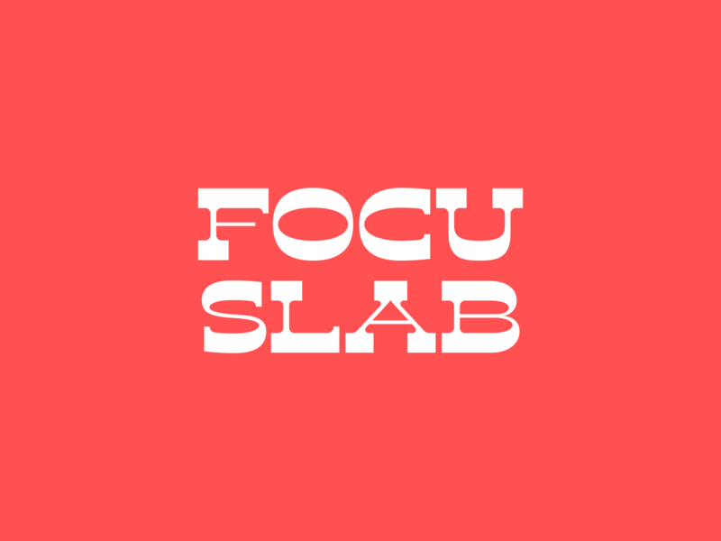 Focu Slab Serif font birthday experimental type typography slab focus lab