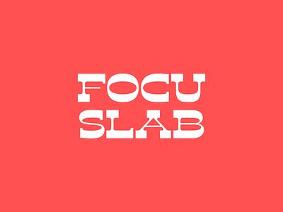 Focu Slab Serif font birthday experimental type typography slab focus lab