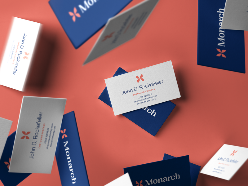Monarch - Type identity branding and identity logo focus lab fort centered symmetry symmetrical business cards branding butterfly monarch