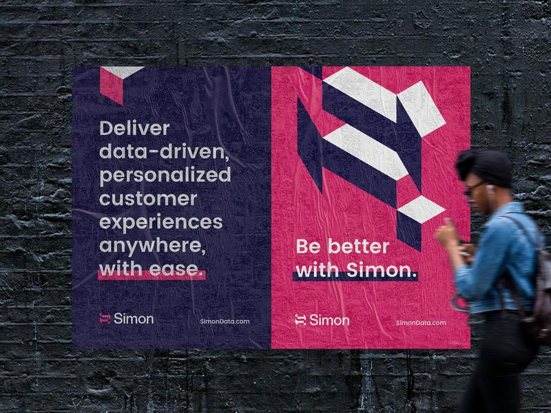 Simon Posters logo graphic design logo negative space gestalt graphicdesign branding focus lab geometric illustration posters simon simon data