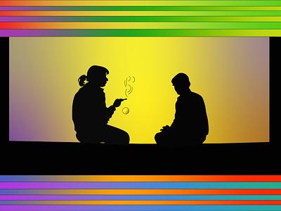 I saw the sun adobe illustrator adobe illustration rainbows rainbow digital painting desingart digital illustration