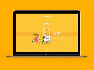 Glaceau vitamin water concept web concept brands south africa cocacola glaceau vitamin water website ux ui