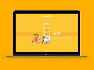 Glaceau vitamin water concept web concept brands south africa cocacola glaceau vitamin water website ux ui