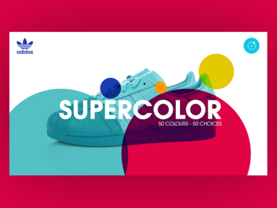 Adidas Supercolor pharell supercolor shop-online e-commerce landing-page brands color ux ui design sneakers shoes