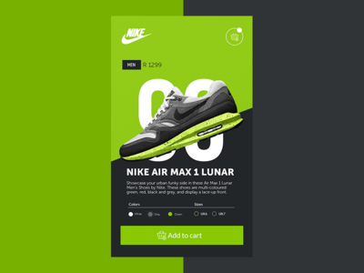 Nike - Air max lunar concept color sneakers brands ux ui design nike nike - air max lunar