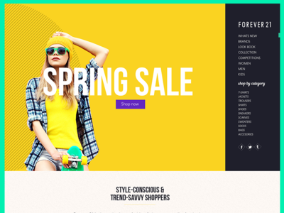 Forever 21 - Concept south africa design web ux ui yellow color fashion brands forever 21