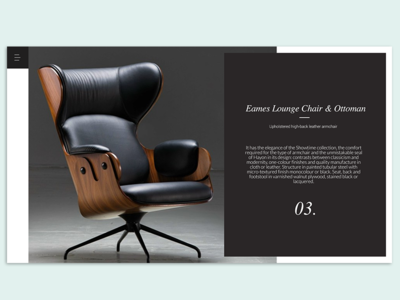 Furniture love white balck monochrome website ux ui furniture
