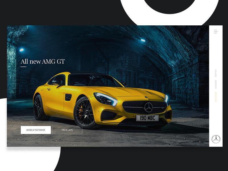 Mercedes Benz - Landing page brands navigation minimal clean automotive website design landing page ux ui cars mercedes benz