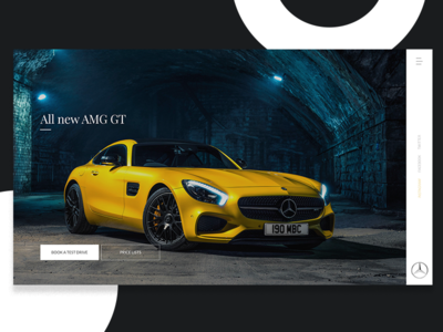 Mercedes Benz - Landing page brands navigation minimal clean automotive website design landing page ux ui cars mercedes benz