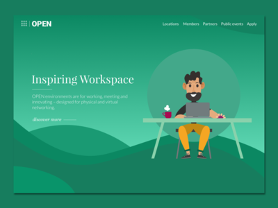 Open - work spaces digital ux illustration ui moeketsi mokay lebakeng southafrica design office openspace open