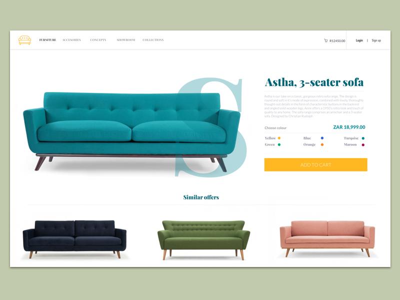 Online Shopping design furniture sofa buy page shopping