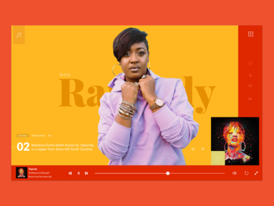 Music streaming site anderson paak rapper ux color ui rapsody design streaming music