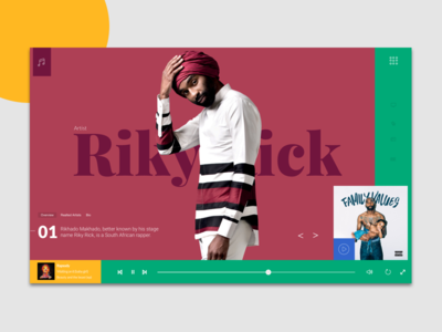Music App - Desktop desktop album music streaming africa riky rick south africa music
