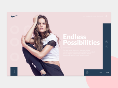 Nike Woman landing page colour pink landing page ux ui south africa design nike