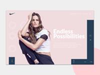 Nike Woman landing page
