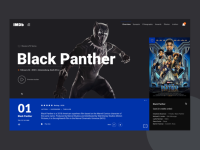 Black Panther Preview preview ux ui africa south africa design black panther movie imdb
