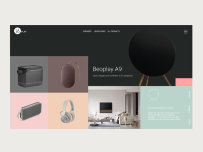 Bang & Olufsen ecommerce music uidesign olufsen bang
