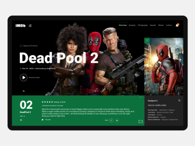 Deadpool Movie Preview ux ui deadpool2 marvel movies