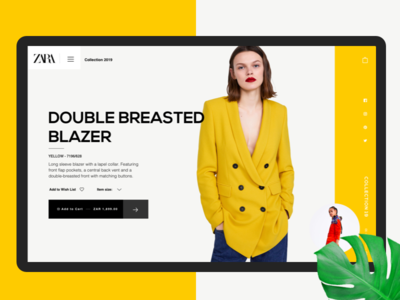 Zara - Product page fashion south africa webdesign website ecommerce store zara design
