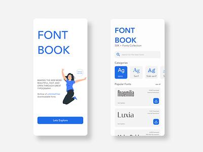 Font App Ui fonts font design ios illustration application vector website uiux gradient cleanui design dailyui app ui minimal ux