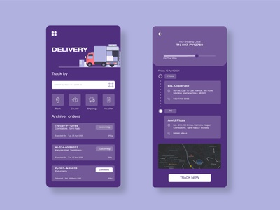 Delivery App Ui application delivery service delivery app delivery website uiux gradient cleanui design dailyui app ui minimal ux