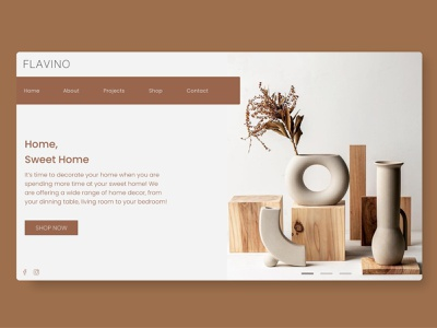 Decor eCommerce web ui 3d ecommerce decor application website gradient cleanui design app dailyui ui minimal ux