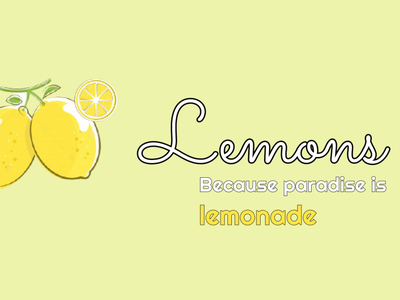Brand identity for a lemonade stand. ui
