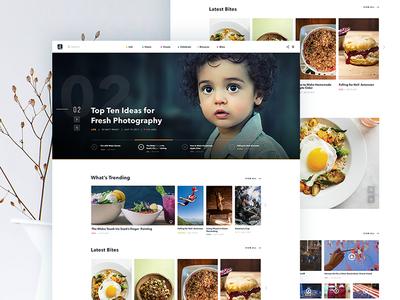 Online Magazine Site magazine website webdesign typography layout homepage design web portfolio web design