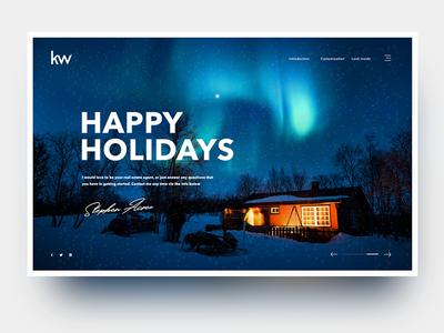 Happy Holidays snow website webdesign typography layout homepage design christmas holidays web design