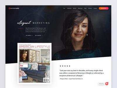 ReminderMedia.com Home Page Redesign marketing realtors real estate webdesign homepage