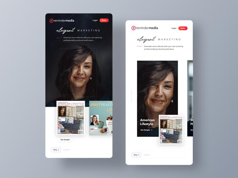 ReminderMedia.com Home Page Mobile 2 invites invites website webdesign web design homepage