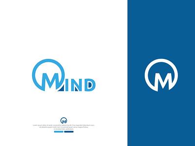 Mind negative space - LOGO branding graphic design creative logo design branding logo design logo logo design mind logo design negative space logo negative spaice negaive logo mind logo