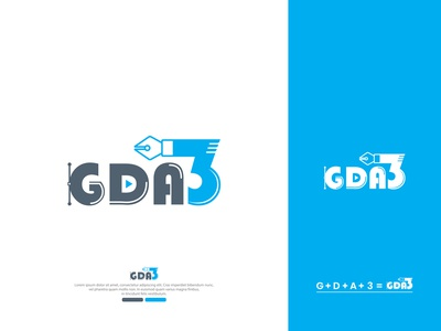 GDA3 - Logo for contest fb logo facebook group logo gda3 vector illustration design logo design creative logo design branding logo design branding logo graphic design