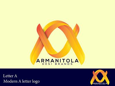 Modern Custom A Letter logo design typogaphy brand identity logo design inetial letter logo custom logo branding logo