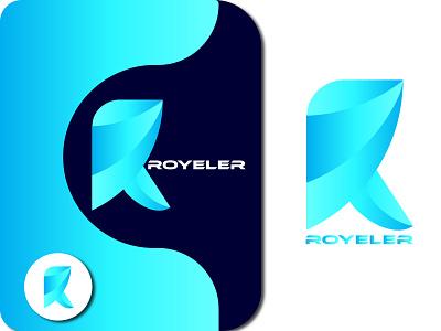 Custom Letter 'R' logo design typogaphy design brand identity logo design inetial letter logo custom logo branding logo