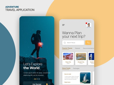 TRAVEL APPLICATION graphic design mobiledesign designinspiration uxdesign uidesign webdesign webdesignsprime