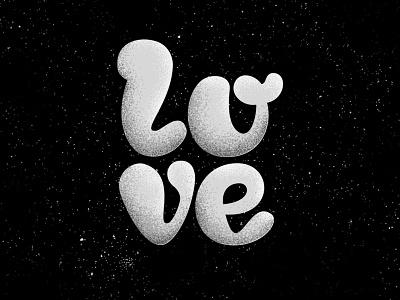l0v3! type illustration blackwhite typedesign retro lettering typeface design