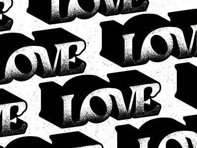 l0v3! type illustration retro lettering typeface design