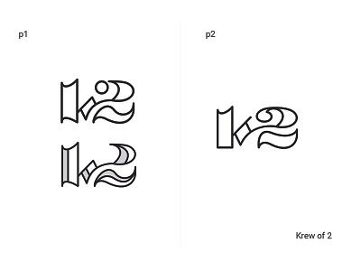Krew of 2 (Project) icon branding idendity brand logo typography illustration