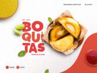 Boquitas brand identity design art food truck foodie branding logo vector brand product design
