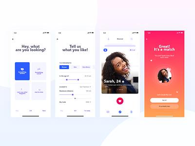 Dating App Concept adobexd app dating ux typography product ui challenge design