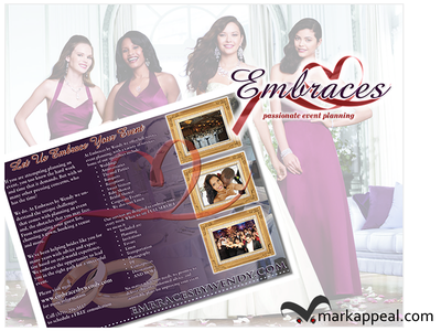 Tri-fold Brochure for Embraces by Wendy tri-fold marketing event planning