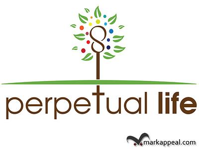Logo Design for Perpetual Life logo corporate identity marketing health