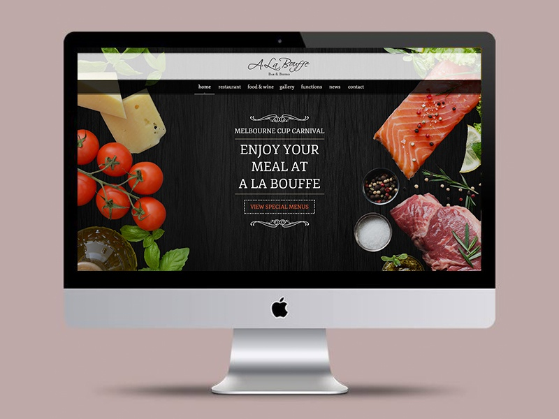 Restaurant Landing Page  french restaurant web design web design website design french restaurant landing page