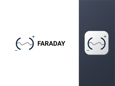 Faraday svg launcher icon android side project app faraday battery adobe illustrator